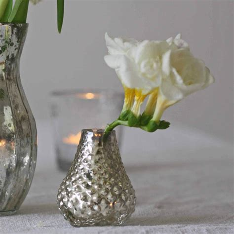 Mercury Bud Vases by Mercury Silver Bud Vases Set Of 5 The Wedding Of Dreams