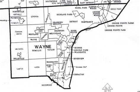 map of wayne county michigan wayne county map michigan flickr photo