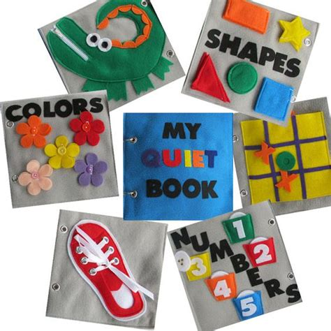 libro fun learning activities for felt quiet book 6 pages of educational and interative fun libros de actividades tic tac y forma