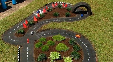 Black Car In The Backyard by Make A Diy Outdoor Race Car Track For Your Diy