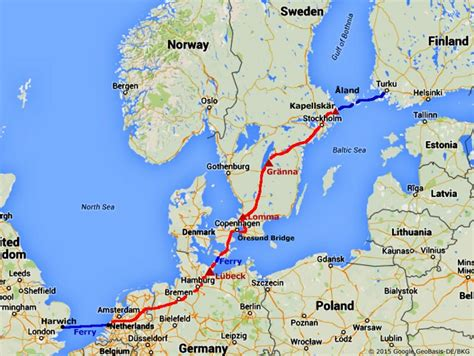 map netherlands and denmark the journey out to finland via denmark and sweden