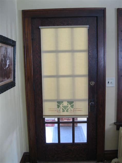 Glass Front Door Window Coverings The Handwerk Shade Shop Studio Wisconsin