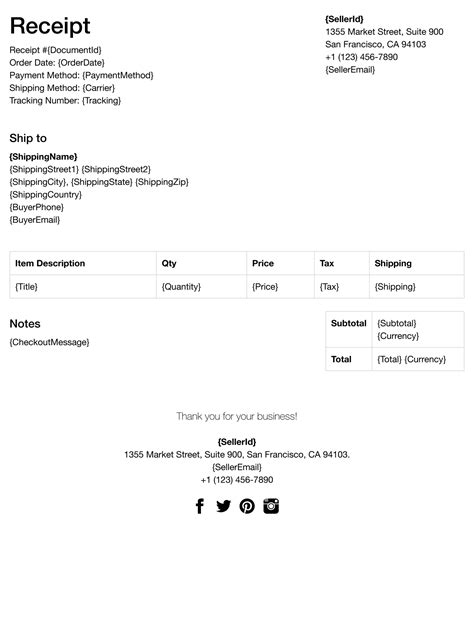 Ebay Receipt Template templates fillbud