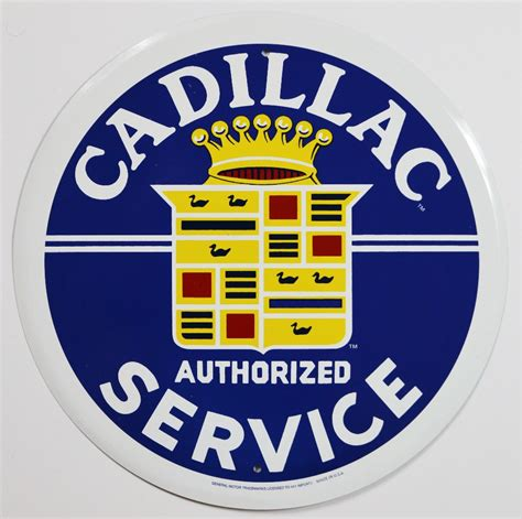 Gamis Gm C53 cadillac authorized service tin metal sign gm xts cts ats