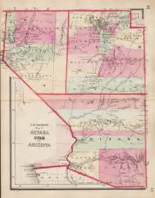 arizona and utah map 1864 in utah territory