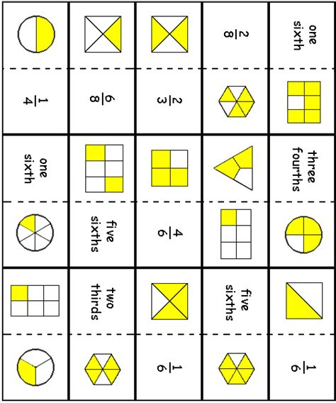 decimal card games printable fraction omino cards