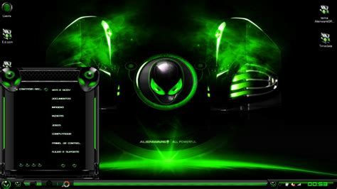 best themes in hd alienware green theme