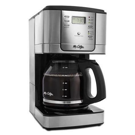 Mr. Coffee 12 Cup Programmable Coffee Maker   Black/Stainless Steel   BJ's Wholesale Club
