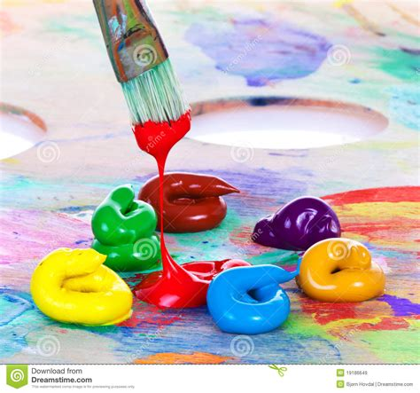 free painting paint and brush stock image image of hobby blend