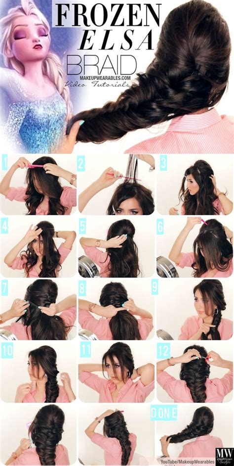 freeze braids hairstyles step by step fancy french fishtail braid tutorial for