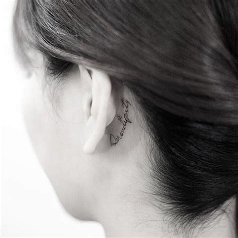 tattoo lettering behind the ear ear tattoos ideas behind the ear tattoos for guys and girls