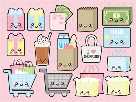 kawaii clipart premium vector clipart kawaii shopping clipart kawaii
