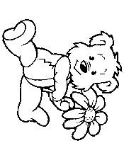teddy bear with flower coloring page spring coloring pages printable coloring ebook