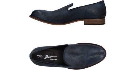 gout shoes lyst ton go 251 t loafer in blue for