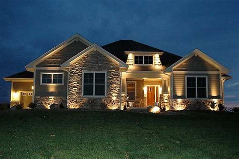Daylight Basement Homes craftsman ranch home stone exteriors craftsman cottage