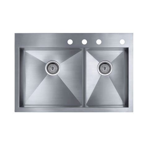 Kohler Kitchen Sinks Home Depot by Kohler Prolific Undermount Stainless Steel 33 In Single Bowl Kitchen Sink With Accessories K