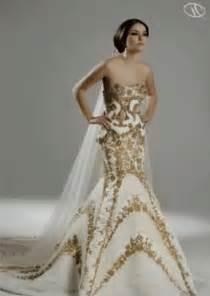 white gold wedding dresses wedding dresses white and gold wedding bells dresses