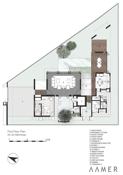 architects floor plans gallery of jalan merlimau aamer architects 19