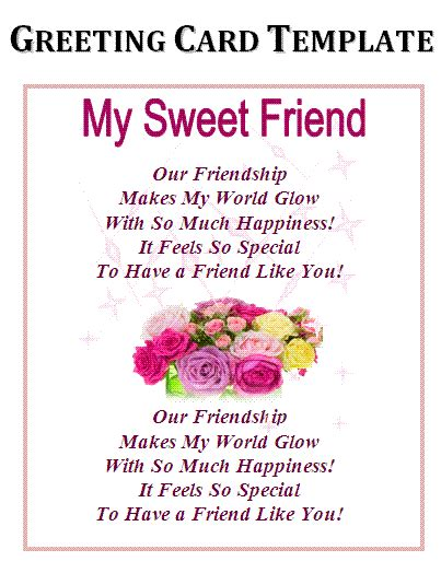 friendship card template free printable 6 card templates excel pdf formats