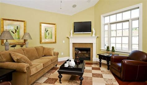 light yellow living room design living room walls and windows pastoral style