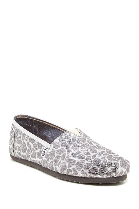 Rack Toms by Toms Giraffe Glitter Classic Slip On Shoe Nordstrom Rack