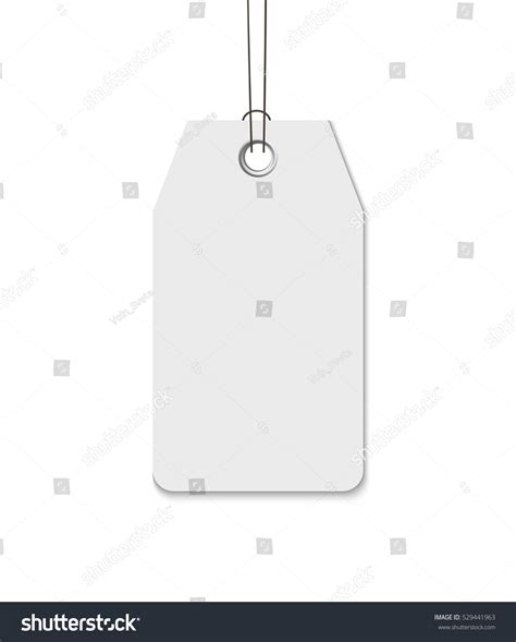 String Template - blank tag string isolated on white stock vector 529441963