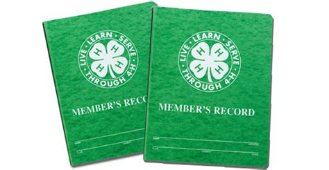 record book record books part of the 4 h experience 4 h