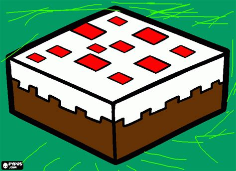minecraft coloring pages cake 830px