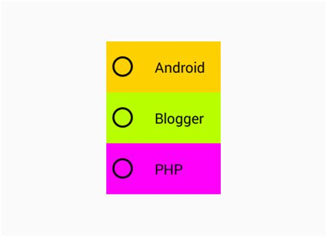 change radio button background color  android  xml