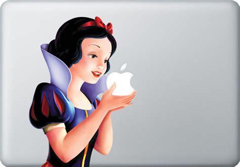 Apple Snow White creative apple macbook stickers one more gadget