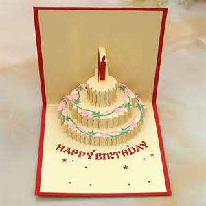 happy birthday greeting cards 3d handmade pop up best wish