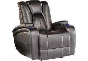 749 99 valley black power recliner