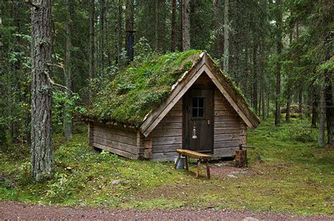 small rustic cottages in swedish eco lodge