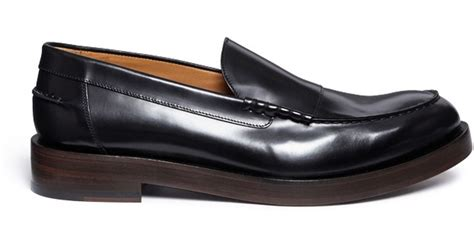 paul smith loafers uk paul smith shipton leather loafers in black for lyst