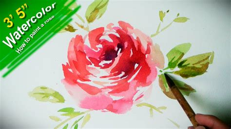 watercolor rose tutorial for beginners how to paint a flower with watercolor jayart by