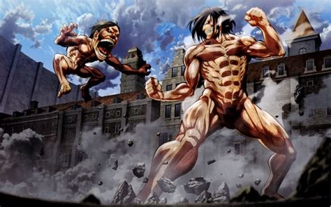 Attack On Titan : Eren Vs Titans by mada654 on DeviantArt Attack On Titan Eren Titan Vs Armored Titan