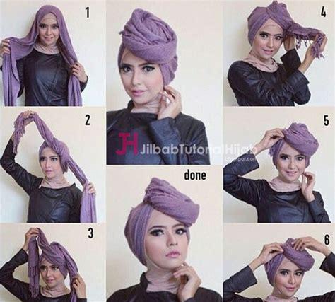 kumpulan tutorial hijab turban kumpulan gambar tutorial cara memakai hijab 2 jilbab