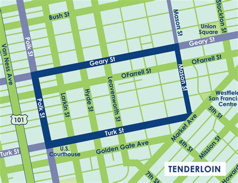 san francisco neighborhood map tenderloin tenderloin district san francisco map