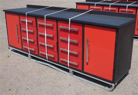 work bench with drawers 12 drawer 10 ft red steel work bench uncle wiener s