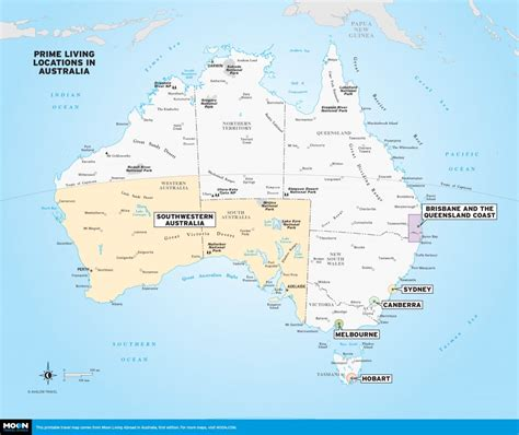 australia in map printable travel maps of australia moon travel guides