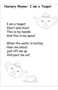 nursery rhyme coloring pages i am a tea pot