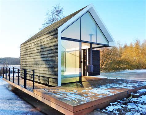 2 Bedroom Apartments Los Angeles tiny glass and timber cabin cleverly folds open to blend