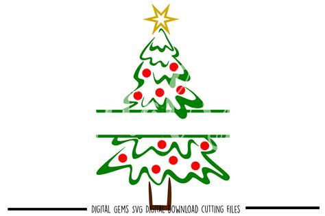 christmas tree svg png eps dxf fi design bundles