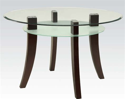 acme dining table glass dining table jafar by acme furniture ac71530