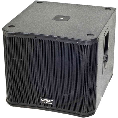 Speaker Qsc 2 qsc kw152 2 way multipurpose active speakers with 15 quot woofers and kw181 18 quot powered