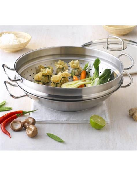 Wok Steamer 40 Cm nanjing wok 35cm steamer inset glass lid frypans woks