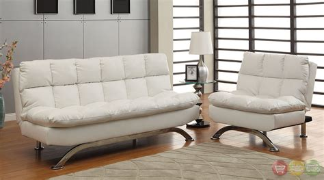 white leather futon sofa aristo contemporary white sofa set with leatherette seat