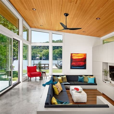 sunken living room in bright and airy home 600x601 jpg