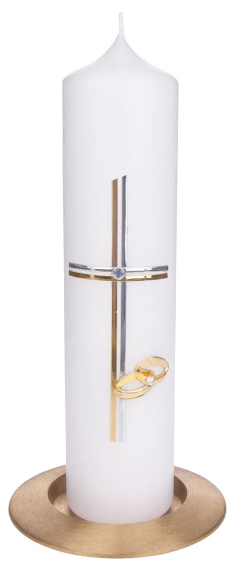 Kerzenleuchter Silber Modern by Hochzeitskerze Kreuz Modern Silber Bei Kirchliche Kunst De
