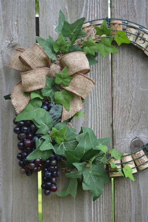wine cork wreath with grapes wine cork wreath cork wreath and cork
